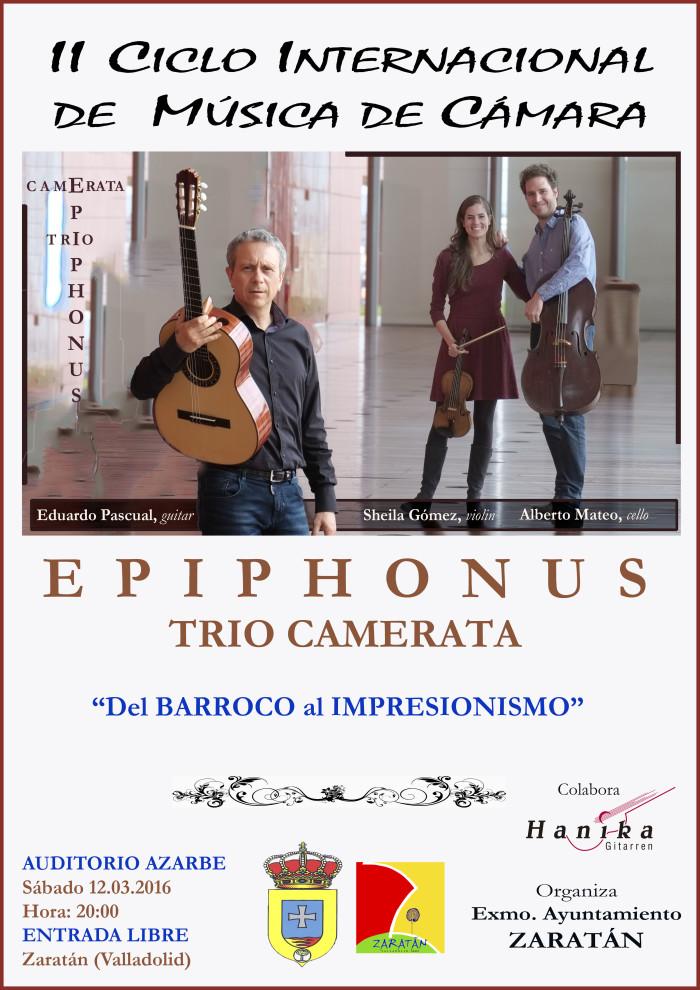 EPIPHONUS Trio Camerata_Cartel ZARATAN_rebajado12.02,2016