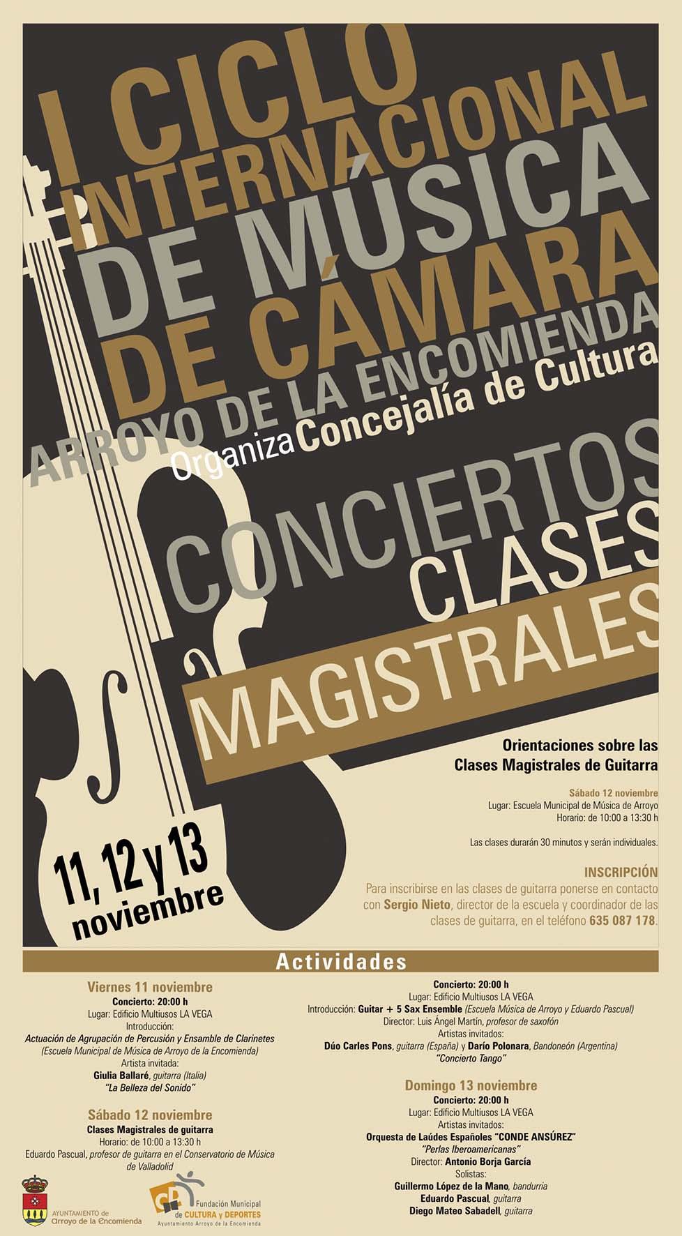 I Ciclo Internacional de Música de Cámara de Arroyo de la Encomienda