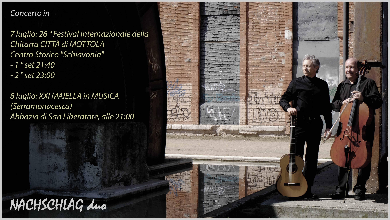 NACHSCHLAG DUO – XXI Festival Internazionale MAIELLA in MUSICA (PESCARA_Serramonacesca)