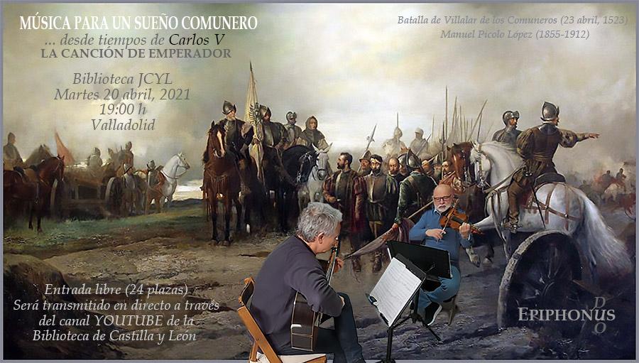 """EPIPHONUS DÚO """"Música para un Sueño Comunero"""" Valladolid"""