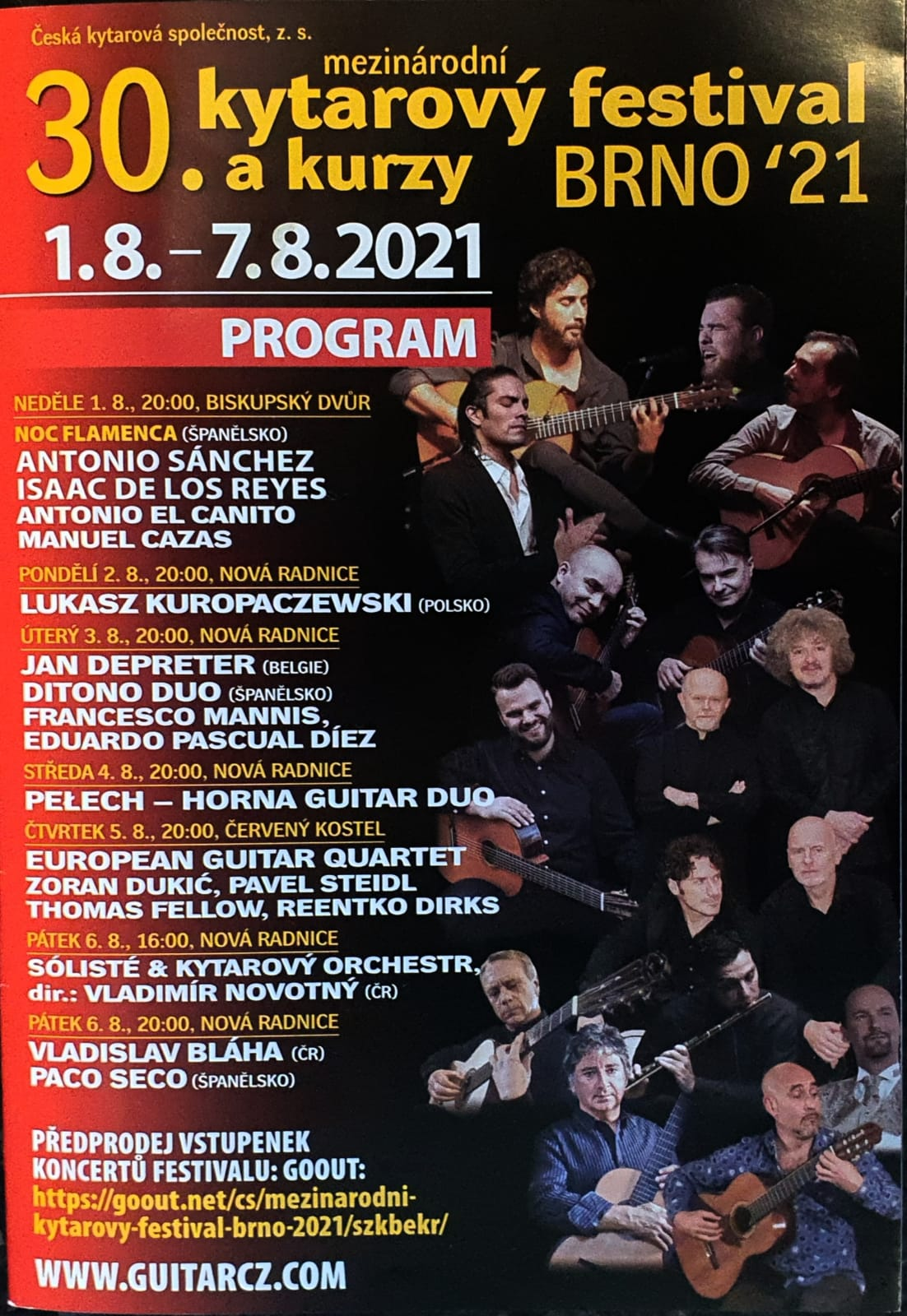 XXX BRNO International Guitar Festival & Competitio BRNO-TOKIO 2021